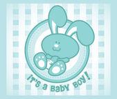 Baby Bunny Boy — Stock Vector