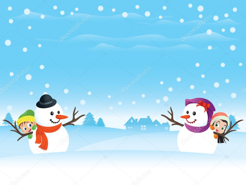 Snowman couple - 3D and CG & Abstract Background Wallpapers on ...