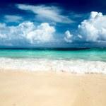 Sand of beach caribbean sea — Stock Photo