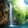 Waterfall in deep forest — Stock Photo #4493338