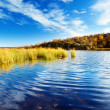 Autumn lake in north mountain — Stock Photo