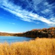 Autumn lake in north mountain — Foto Stock