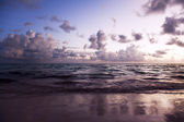 Sunrise on the Caribbean beach — Stock Photo