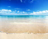 Sand of beach caribbean sea — Stock Photo