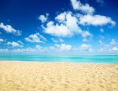 Sable de la plage la mer des caraïbes — Photo