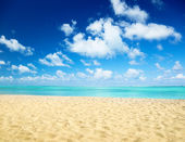 Sand of beach caribbean sea — Foto Stock