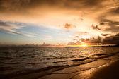 Sunrise and atlantic ocean — Stock Photo