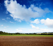 Plowed spring field — Stock Photo