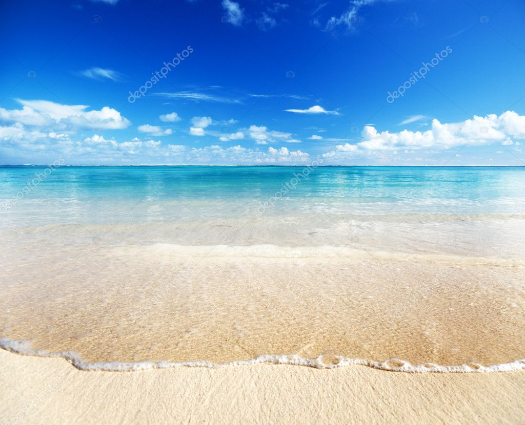 Sand of beach caribbean sea — Stock Photo #4492222