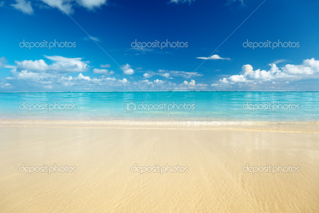 Sand of beach caribbean sea — Stock Photo #4492617