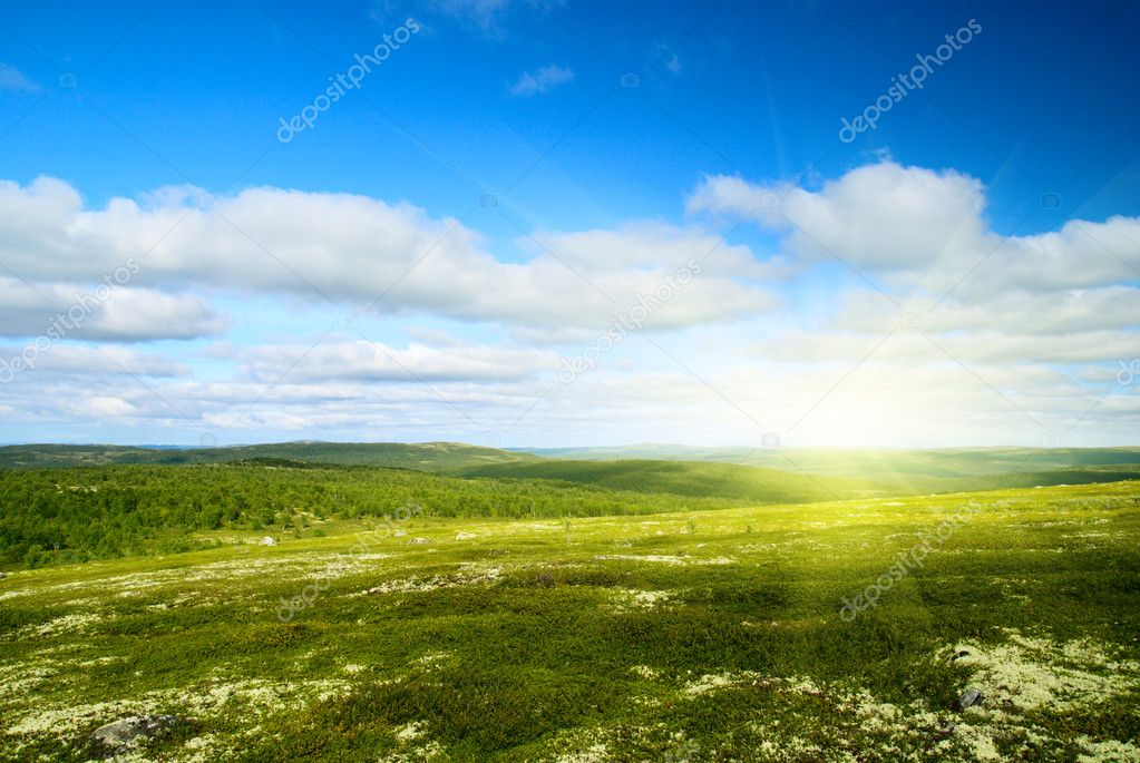 Mountain of north Russia — Stock Photo #4494231