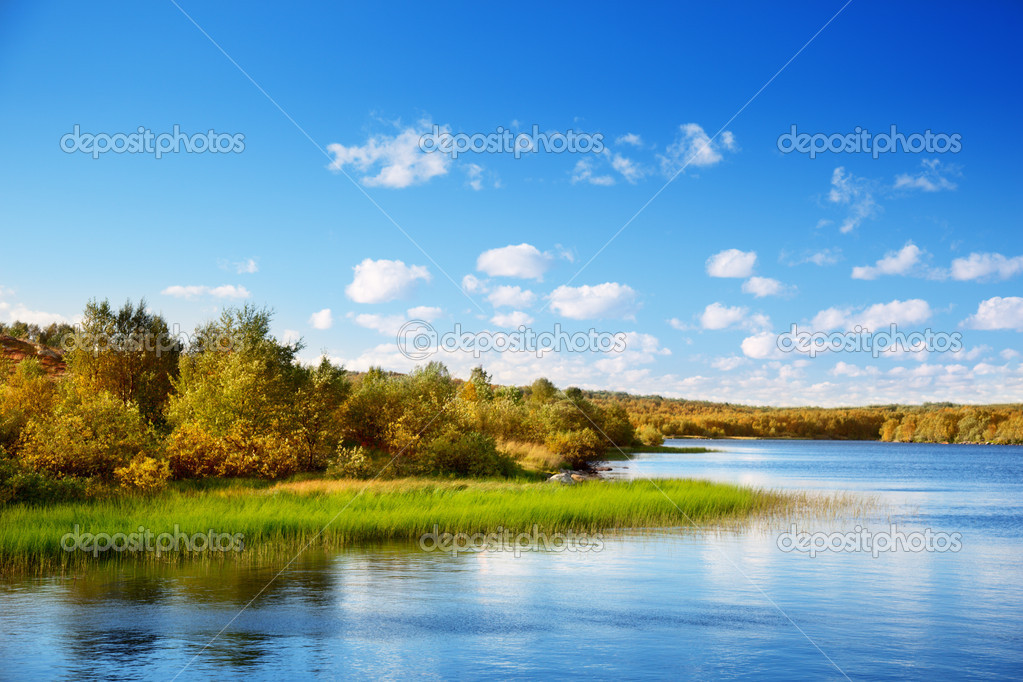 Autumn lake in north mountain  Stock Photo #4494519