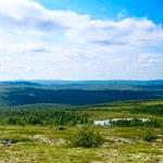 Mountain tundra and lakes — Stock Photo