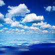 Blue sky and water — Foto de Stock
