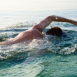Swiming man — Stock Photo