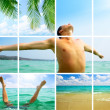 Collage of summer photos — Stock Photo