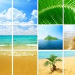 Collage photos of ocean — Foto Stock