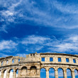 Roman amphiteater in Pula, Croatia - Stock Photo