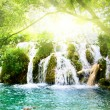 Waterfall in deep forest — Stock Photo #4608134