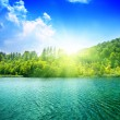 Stock Photo: Green water lake