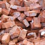 Broken bricks — Stock Photo