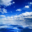 Blue sky and water — Stock Photo