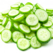 Slices of fresh cucumber — Stock Photo #4608457