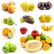 Page of fruits isolated on white — Stock Photo