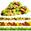Foto Stock: Collection of vegetables and fruits