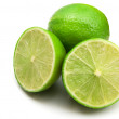 Limes isolated on the white background — Stock Photo