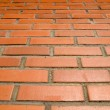 Stock Photo: Red bricks and sun