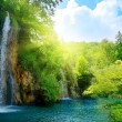 Waterfalls in deep forest - Stock Photo