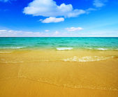Sand of beach and sea — Stock Photo