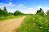 Road from sand and perfect summer day — Stock Photo