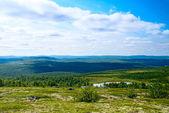 Góra tundry i jezior — Zdjęcie stockowe