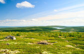 North mountain tundra and lakes — Stock Photo