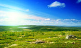 Północy tundra gór i jezior — Zdjęcie stockowe