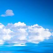 水天空和日落 — Stockfoto