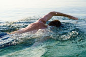 Swiming man — Stock Photo
