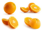 Page of oranges isolated on the white — Stock Photo