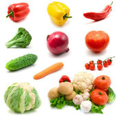 Vegetables isolated on the white — Stock Photo