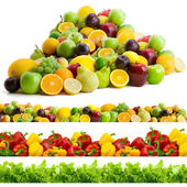 Collection of vegetables and fruits — 图库照片