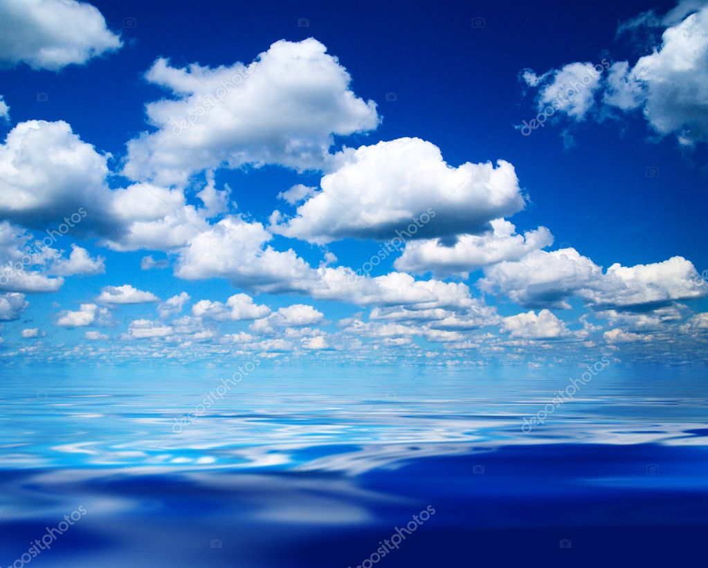 Perfect blue sky and water  Stock Photo #4607955