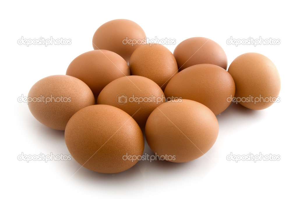 Eggs isolated on the white background — Stock Photo #4608295