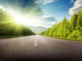 Droga w góry — Zdjęcie stockowe