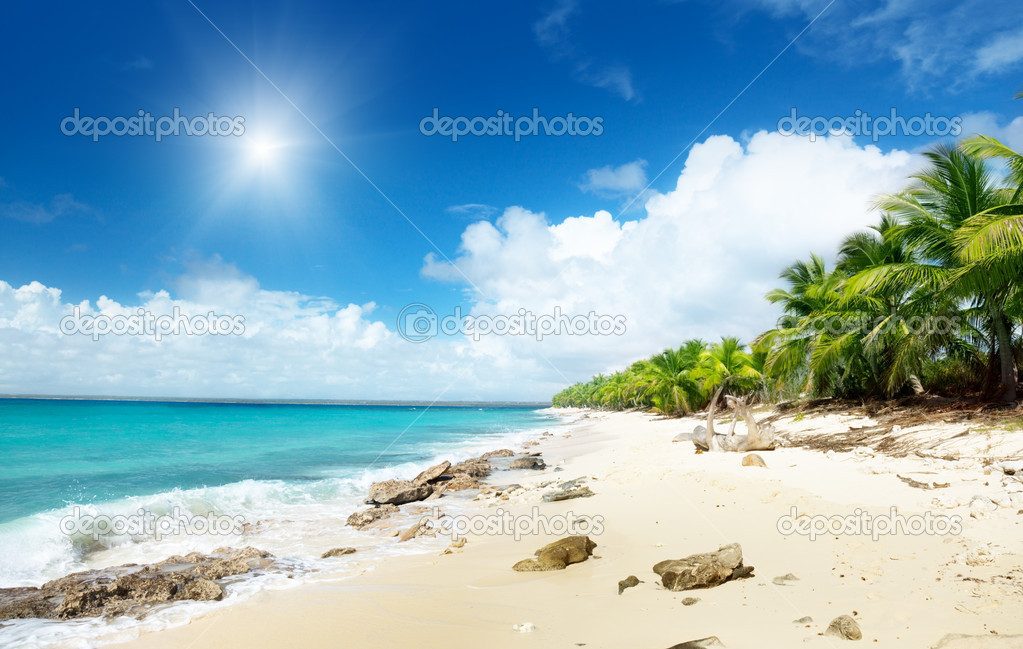Beach of Catalina island, Dominican republic — Stock Photo #4621964