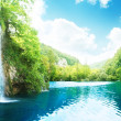 Waterfall in deep forest — Stock Photo #4776732