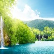 Waterfall in deep forest — Stock Photo #4776744