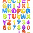 Stock Photo: Big Fat Color Alphabet