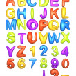 Big Fat Color Alphabet — Stock Photo